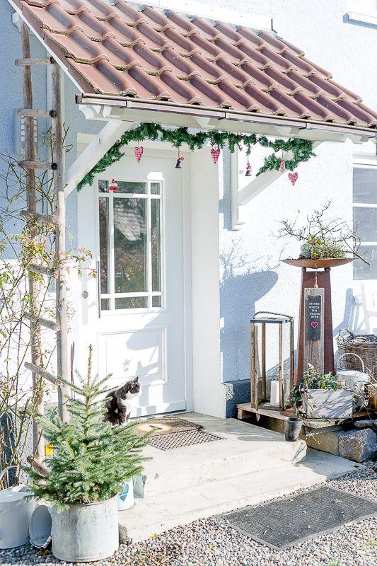 Weihnachtlicher Eingangsbereich oder ist der Buchs vielleicht doch zu retten? • Pomponetti – Boda fotos