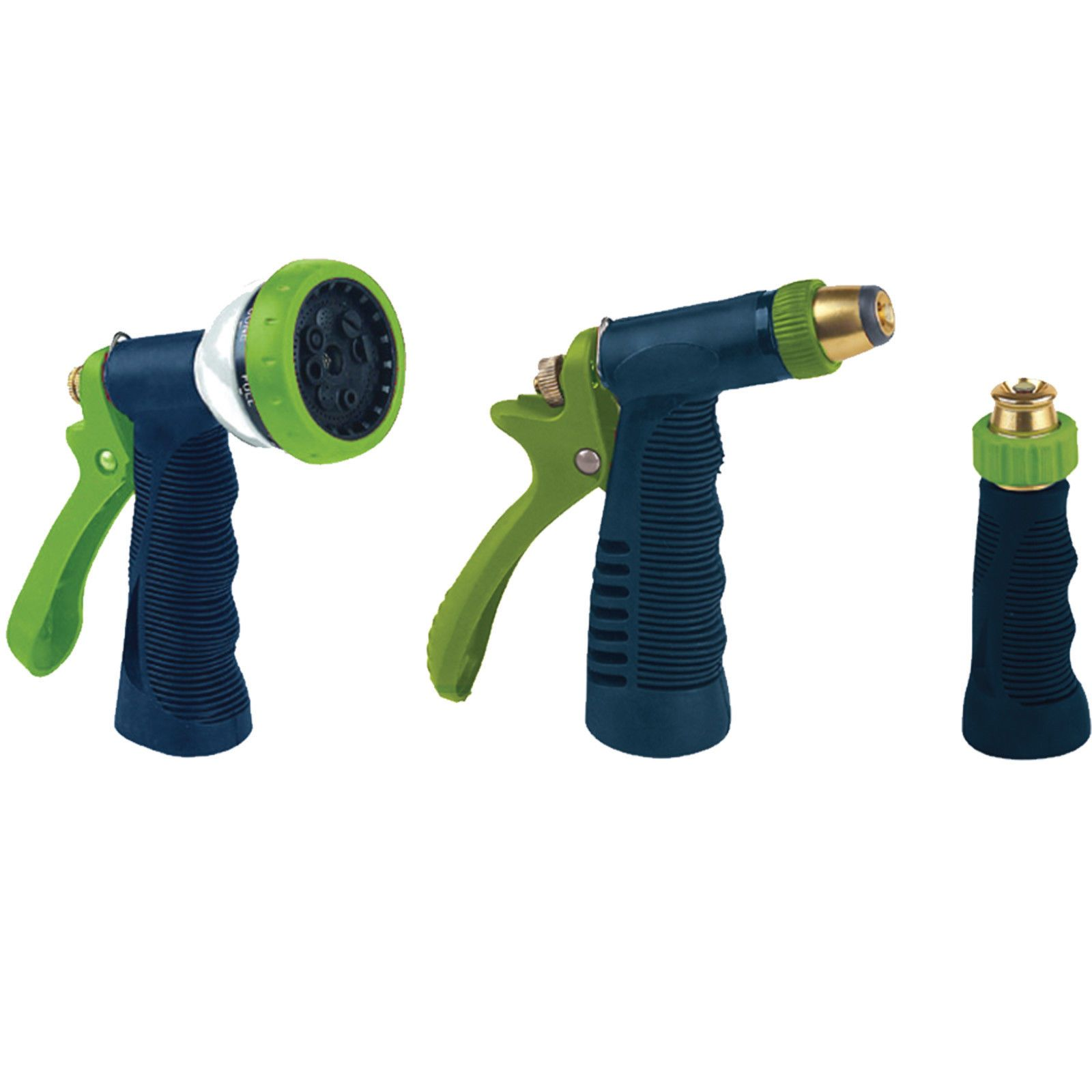 Recomeneded Ray Padula Hose Nozzle Combo Pack 3 Pack Metal Garden Water Spray Pressure Sprinkler Washer Garden Outdoor Lawn Yard Gardening Hand Tool Equipment Rp