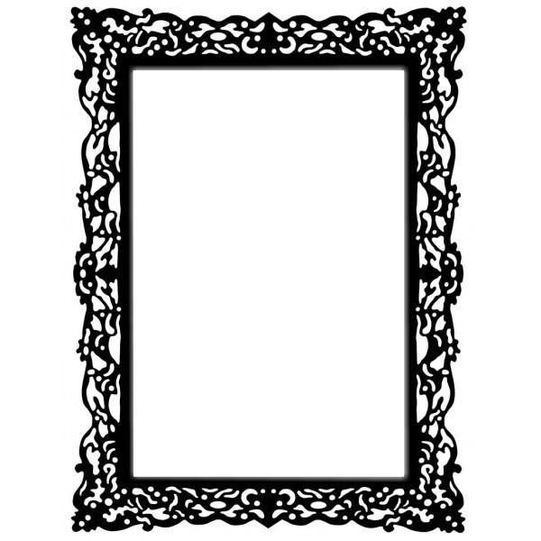 Souvent Papier peint cadre baroque carré doré - cadre • PIXERS.fr | Clip  LX76