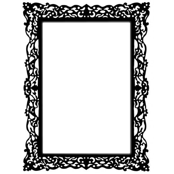montage photo cadre baroque noir pixiz pinteres. Black Bedroom Furniture Sets. Home Design Ideas