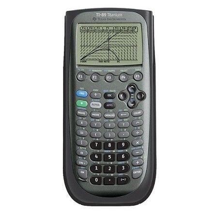 Texas Instruments TI-89 Titanium Advanced Graphing Calculator - time card calculator