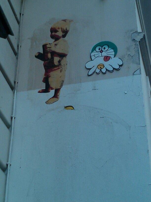 Stickers near Beaubourg, Paris