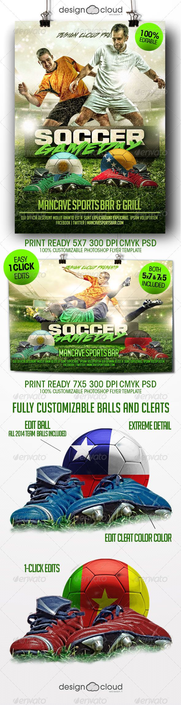 Soccer Game Day Flyer Template  Soccer Games Flyer Template And