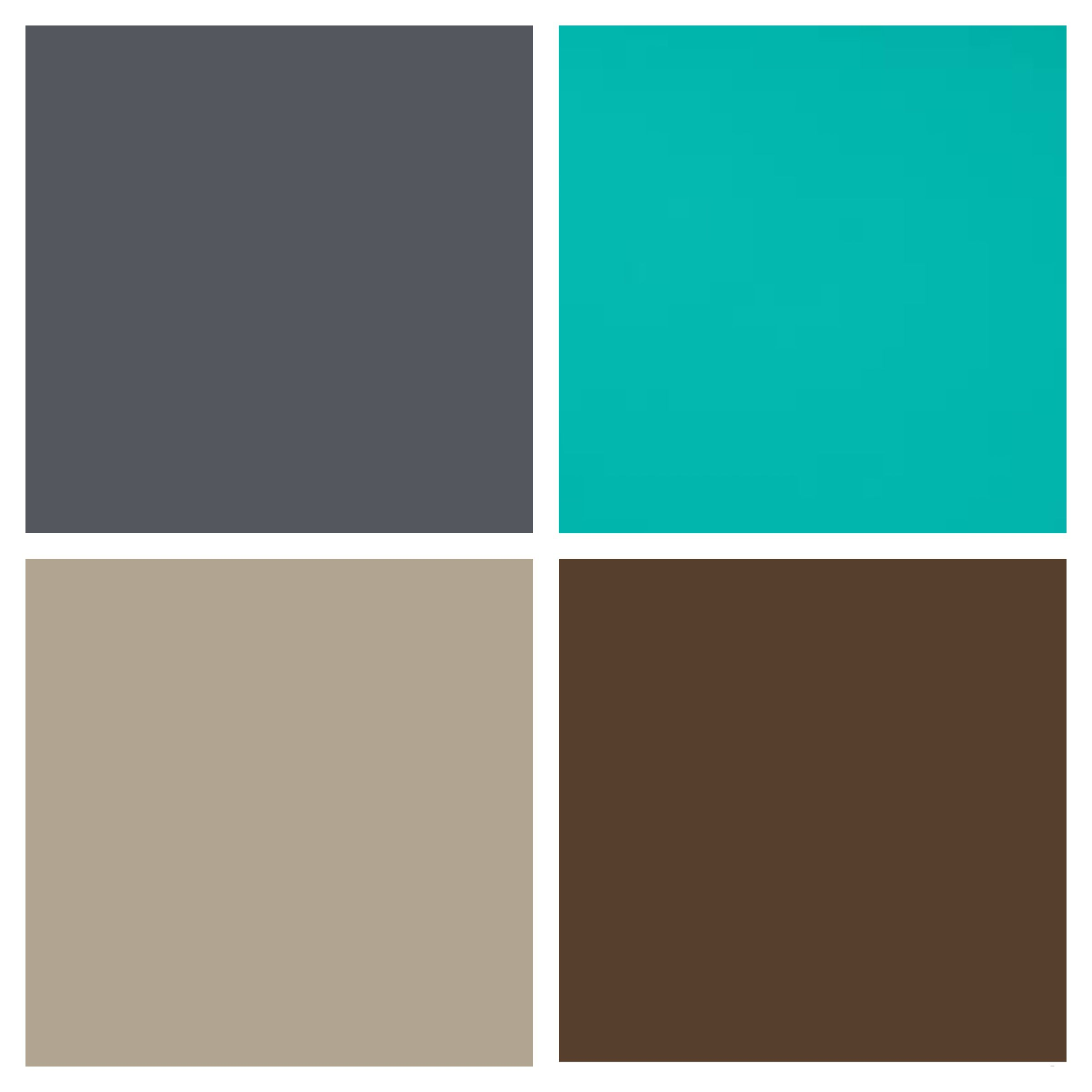 Bedroom color palette - slate gray / storm grey, turquoise ...