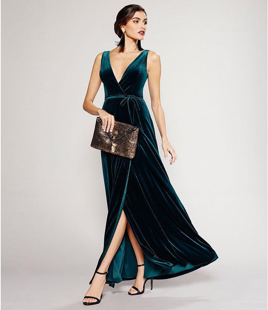 55c84297d109 Shop for Aidan Aidan Mattox Velvet Wrap Gown at Dillards.com. Visit Dillards .