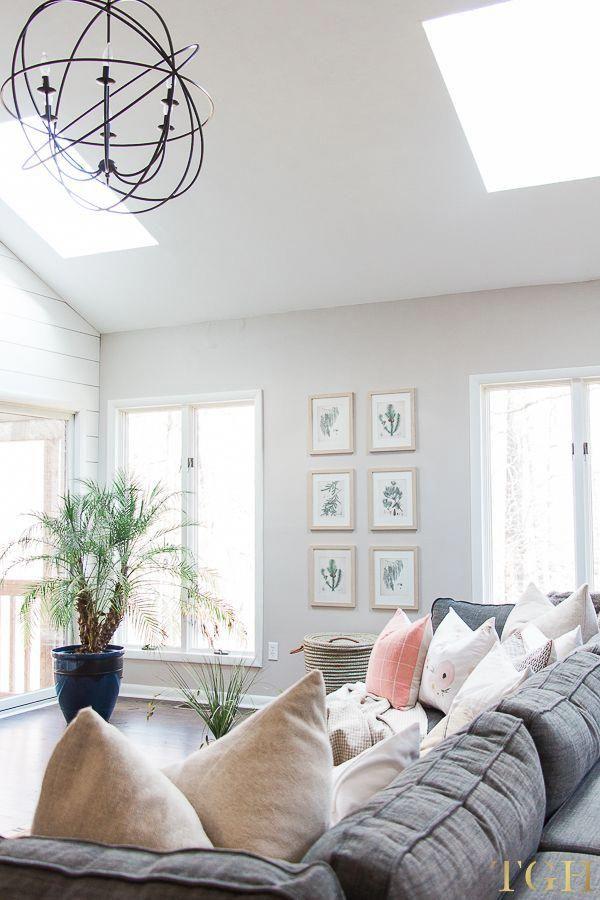 Chandelier Living Room High Ceiling   Open Concept Living ...