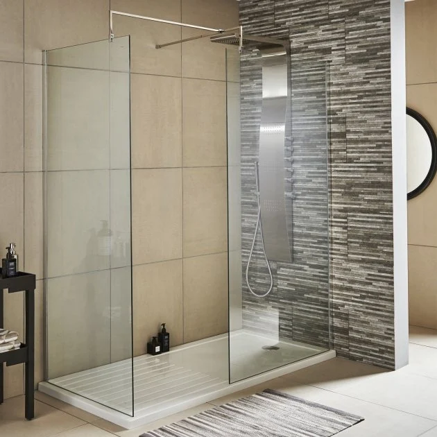 Nuie Wet Room Wet Room Panel Wrsc10 1000mm 8mm Clear In 2020 Shower Enclosure Walk In Shower Enclosures Wet Room Shower