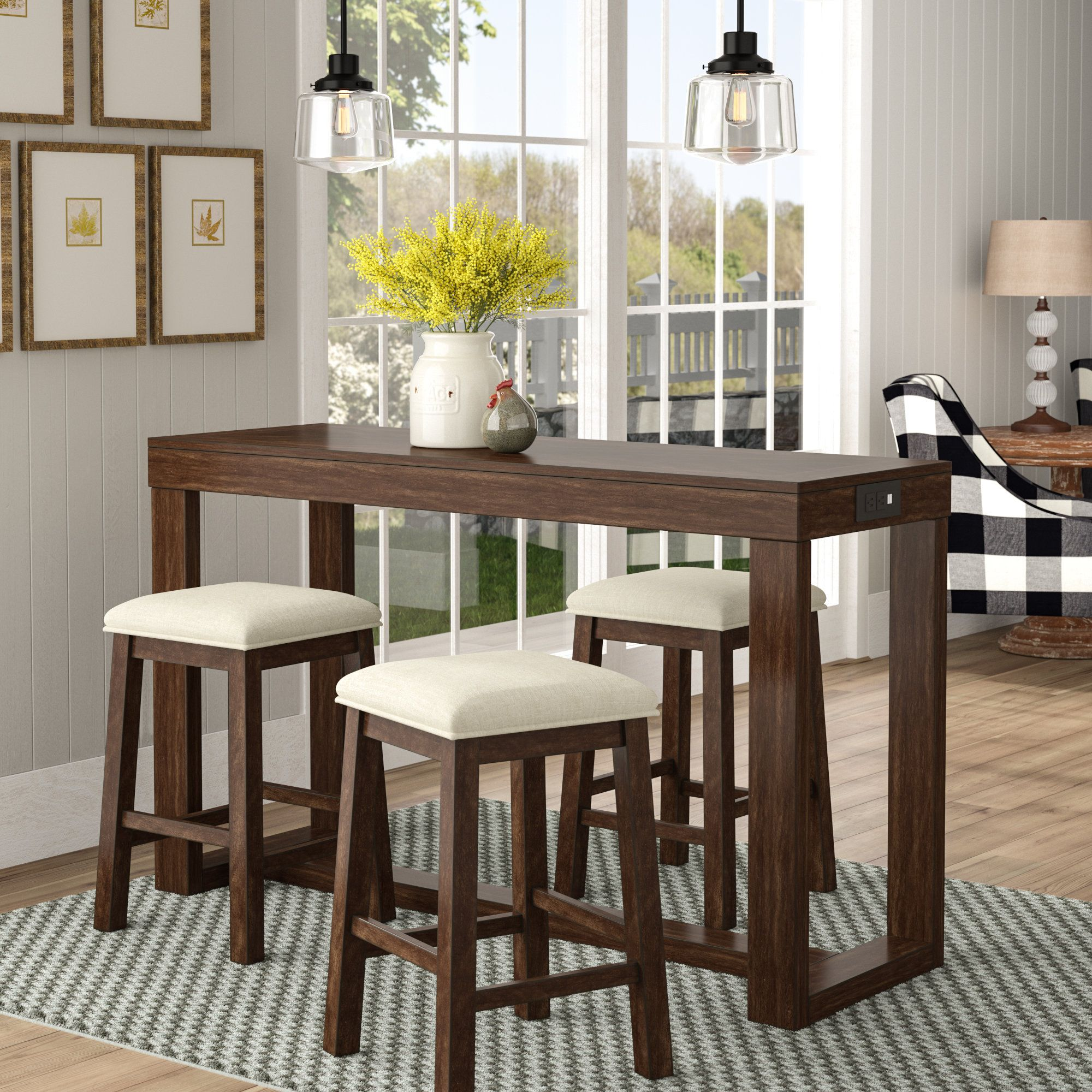 9 Awesome Craftsman Distressed Pub Table In Dining Room ...