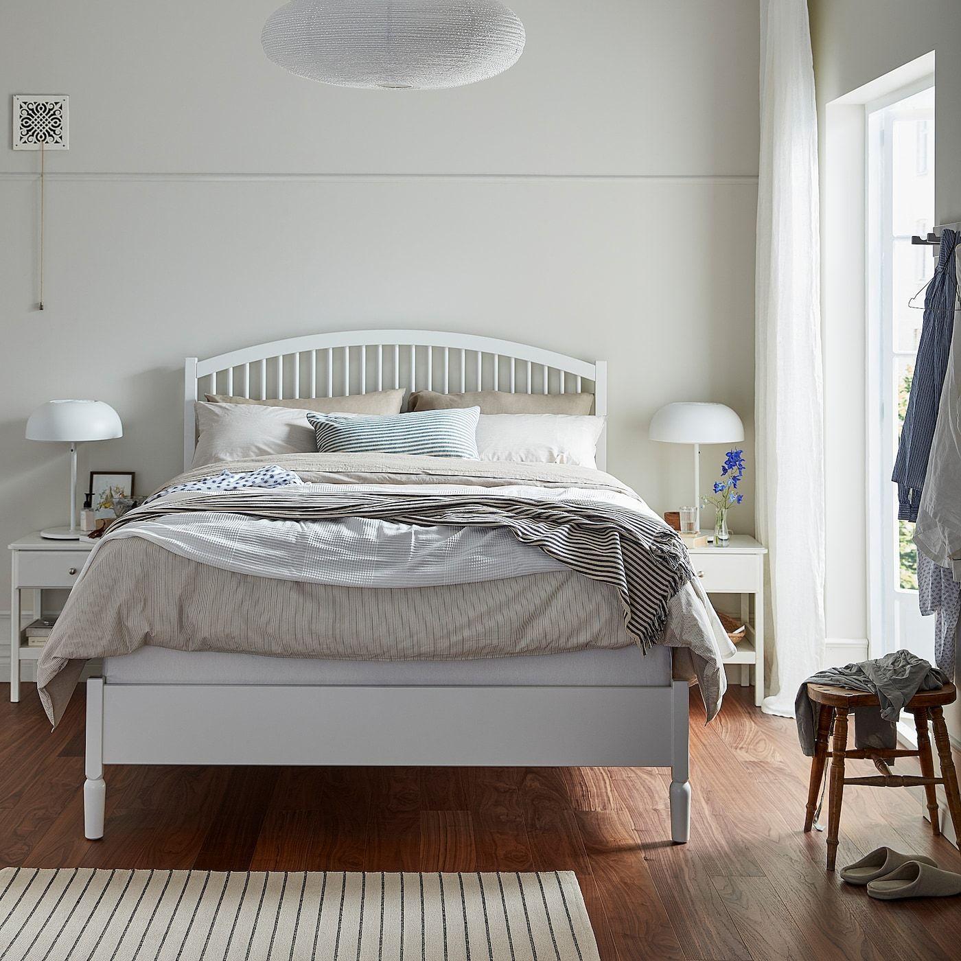 IKEA TYSSEDAL Bed frame white, Eidfjord Bed frame