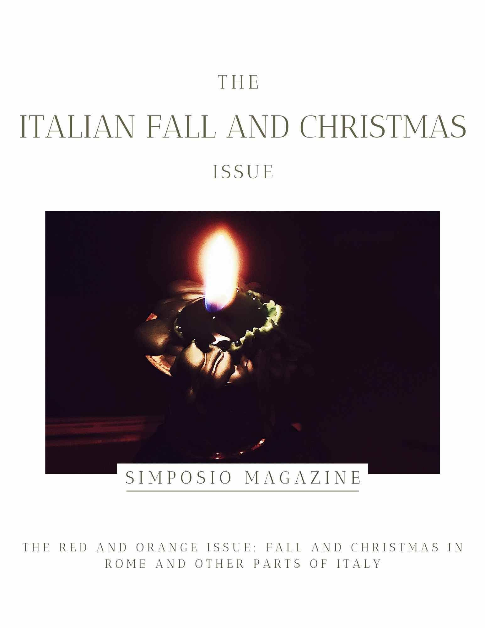 Halloween In Rome Italy 2020 Christmas traditions in Rome | Simposio: the Red & Orange Issue in