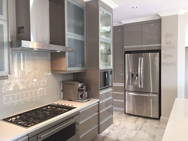 Aluminum Frame Cabinet Doors Frosted Glass Inserts Modern