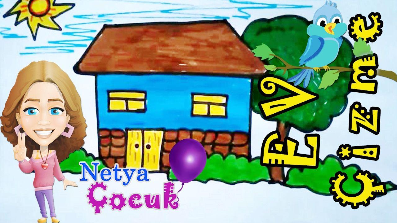 Kolay Ev çizimi Ve Boyama Nasıl Yapılır çocuklar Için Netya çocuk