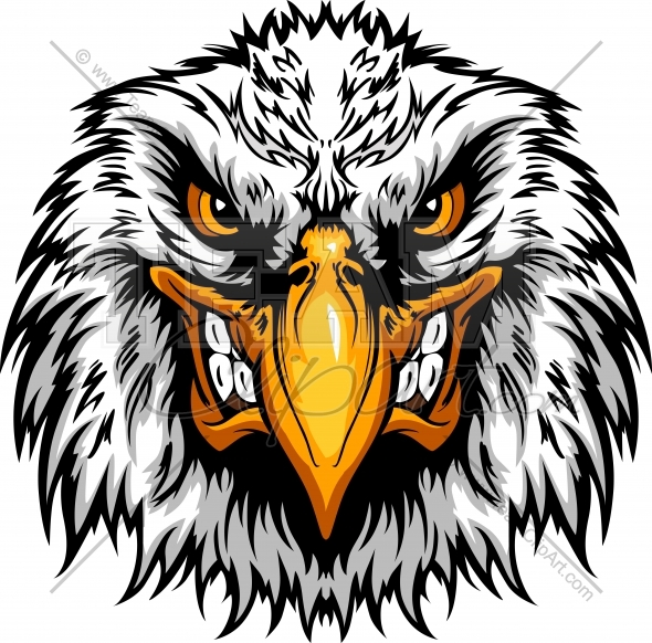 Angry Eagle Head Clipart Mascot Graphic Vector Clipart Logo Eagle Vector Eagle Art Eagle Tattoos