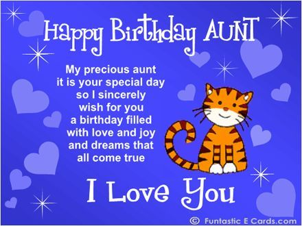 Happy Birthday Aunt Quotes Iamyoursnowcom