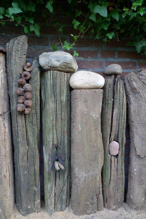 Holzbalken in szene gesetzt holzbalken g rten und - Gartendeko aus alten holzbalken ...