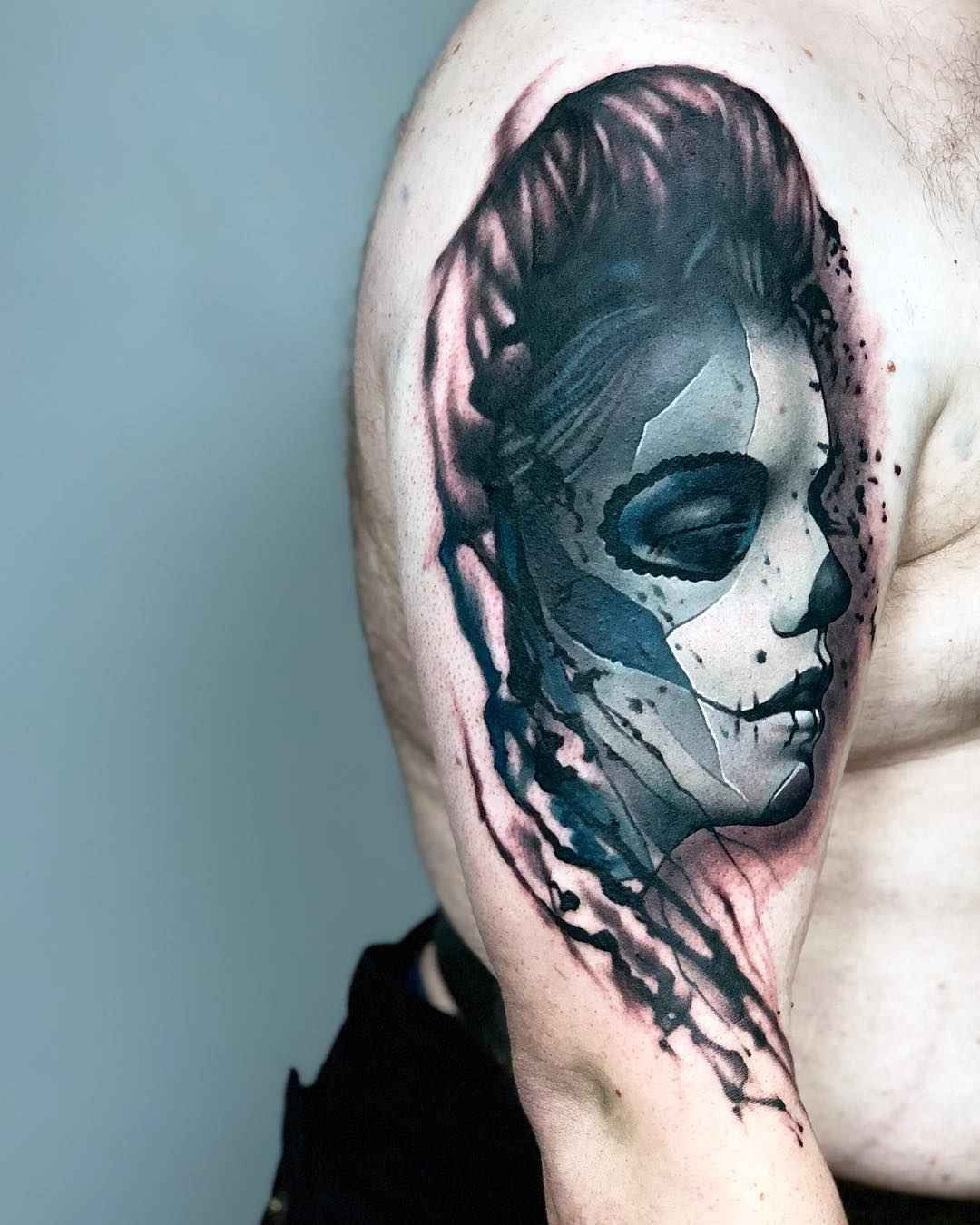 Tattoo Artist Rich Harris Authors Style Color Abstract Portrait Realism Surrealism Uk Abstract Portrait Portrait Tattoo Portrait