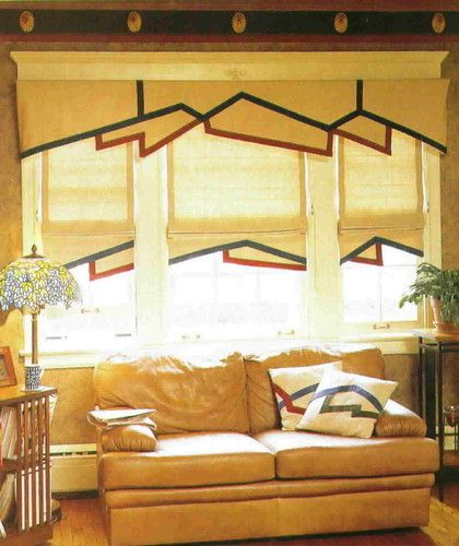 Arts And Crafts Styled Window Treatments Shared By