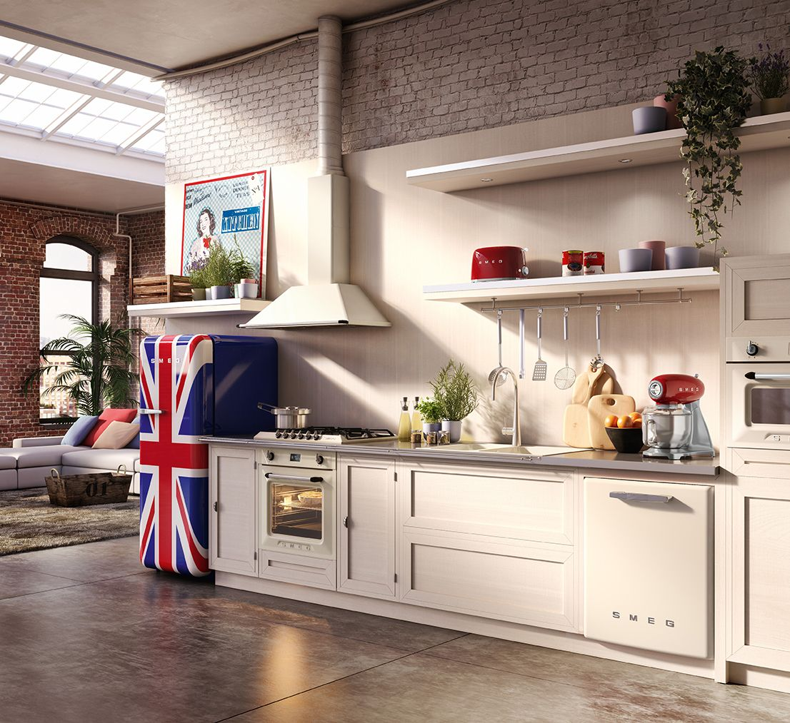 Smeg 50 And Victoria Kitchen Set In Cream