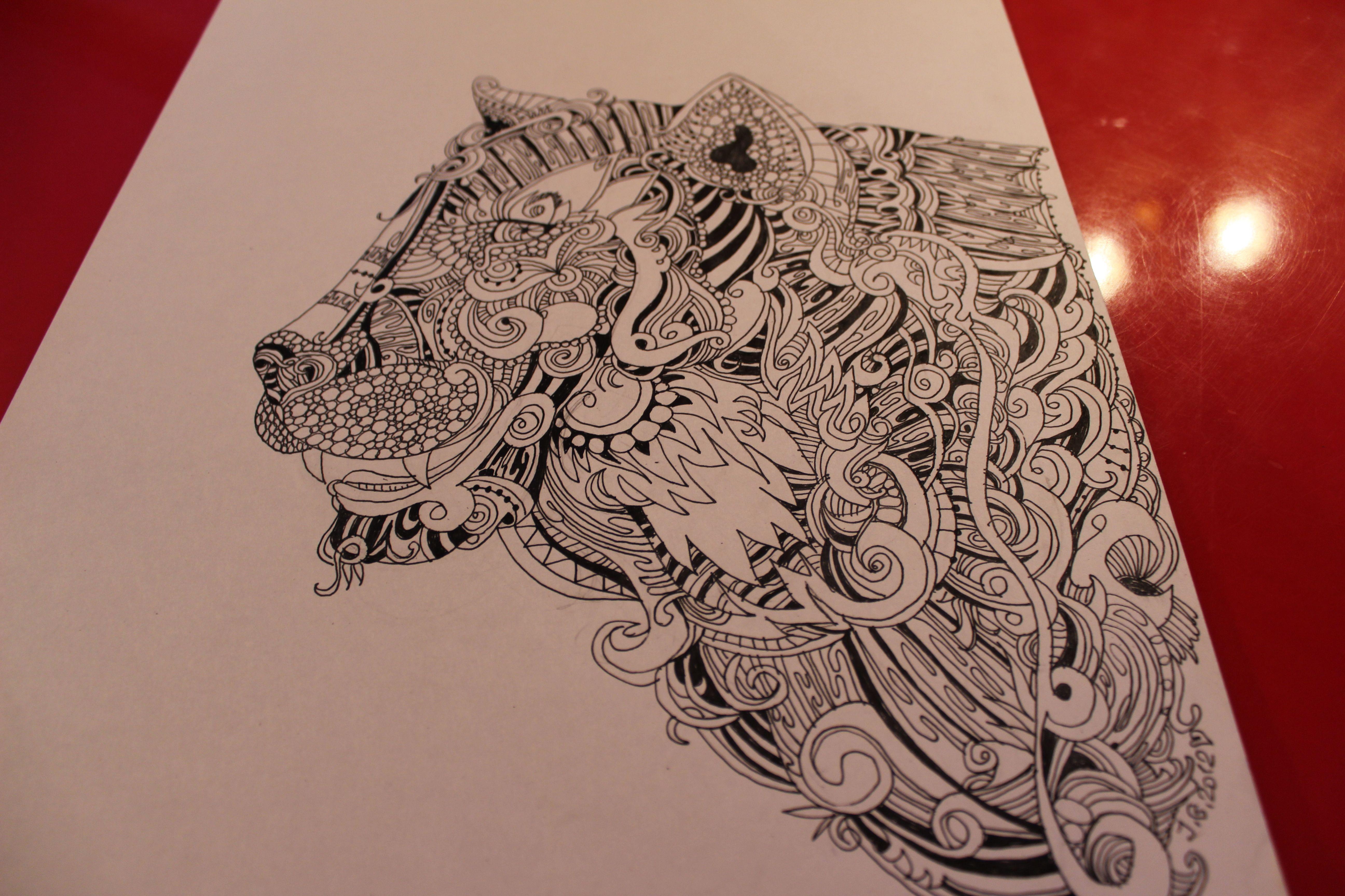 #tiger #Russia #art #print #design #wear #accessories #handmade #love #illustration #ink #tatoo #style #pen #inkart #draw #shirt