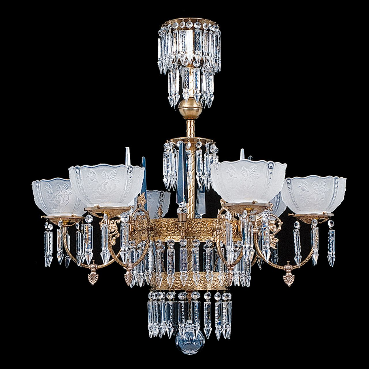 Br And Crystal Victorian Chandelier