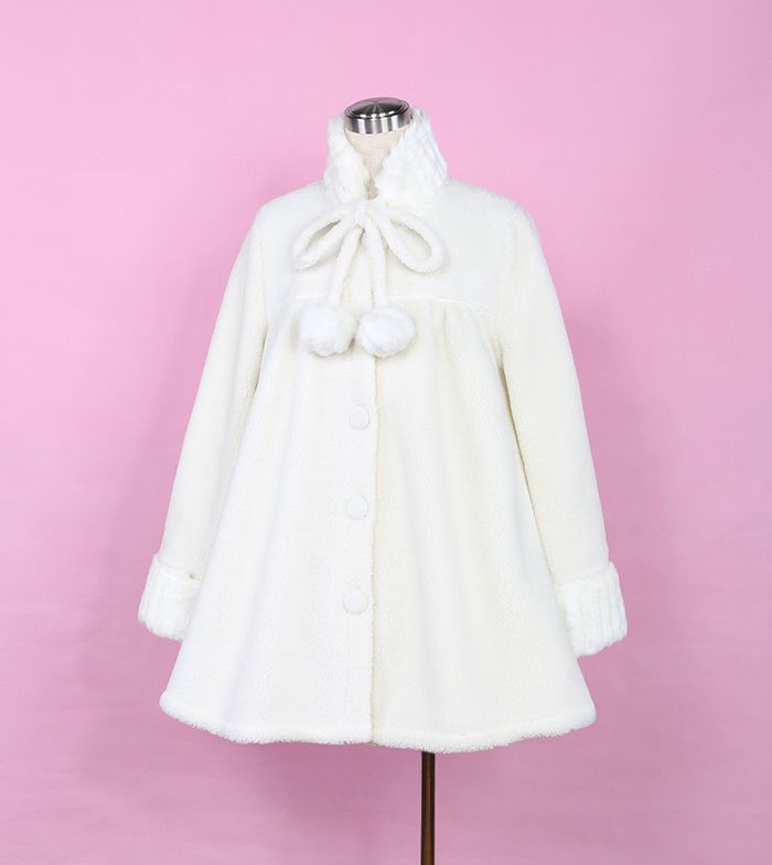 Material: cashmere, plush rabbit Free size: Coat length 76 cm, Bust 102 cm, Shoulder 40 cm, Sleeves 61 cm, Cuff 24 cm, Hem 160 cm