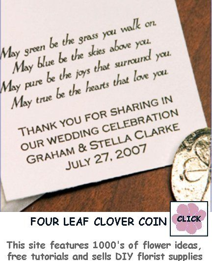 Irish Blessing Favor For Your Celtic Themed Wedding Reception