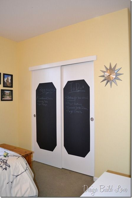 Chalkboard Closet Doors Use To Organize Your Schedule Painted