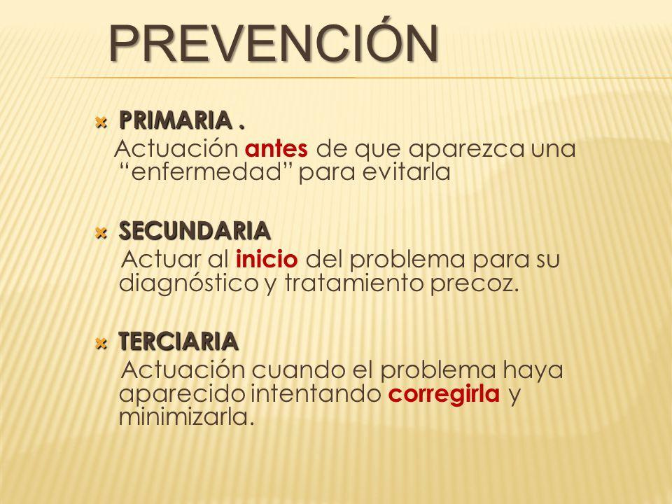 diabetes prevencion primaria secundaria terciaria