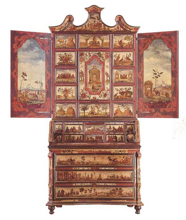 The Venetian Furniture Of Xviii Century A Secretary Bookcase Made