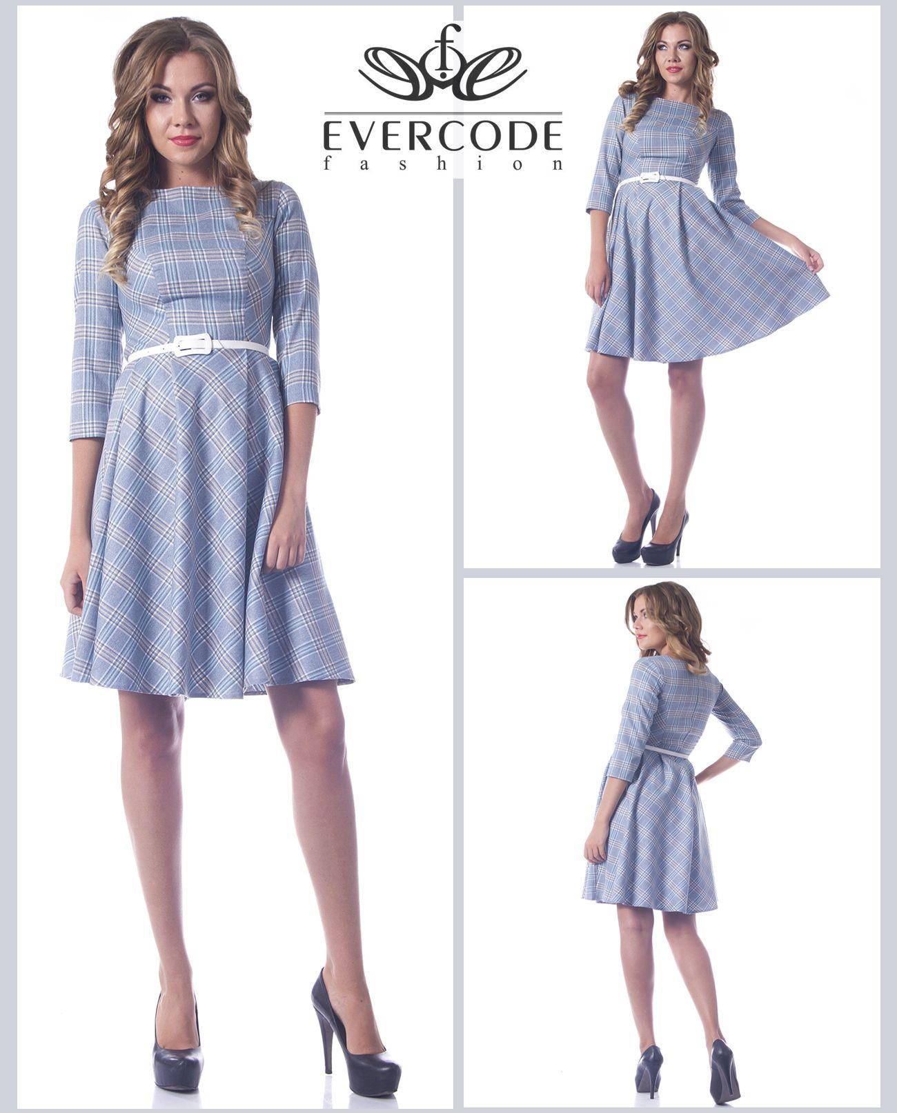 44e711f4d29 Стильное платье из костюмной ткани в клетку. Юбка в складку ...