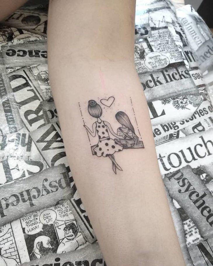 Tatuagem minimalista: 90 imagens incríveis e delicadas para se apaixonar #mamatattooideen