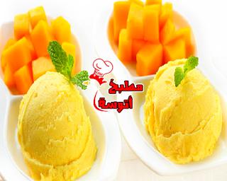 ايس كريم المانجو بطريقة شيف هاله فهمي البلدي يوكل مطبخ أتوسه على قد الايد Mango Ice Cream Food Ice Cream