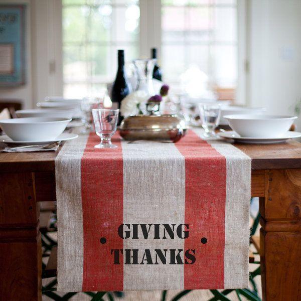 Giving Thanks Runner For Thanksgiving