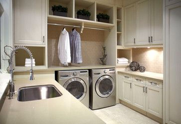 Laundry Room Hanging Rods Above The W D As Counter Would Block