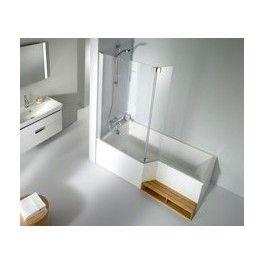 pack baignoire bain douche neo 180x90 70cm version gauche avec pare bain ref ce6d004l 00 e6d007. Black Bedroom Furniture Sets. Home Design Ideas