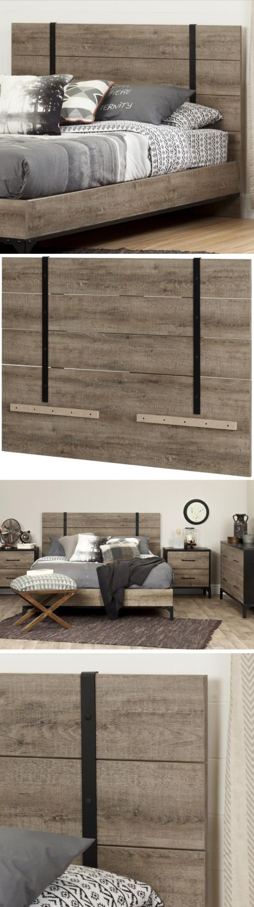 Headboards and footboards full queen headboard weathered oak