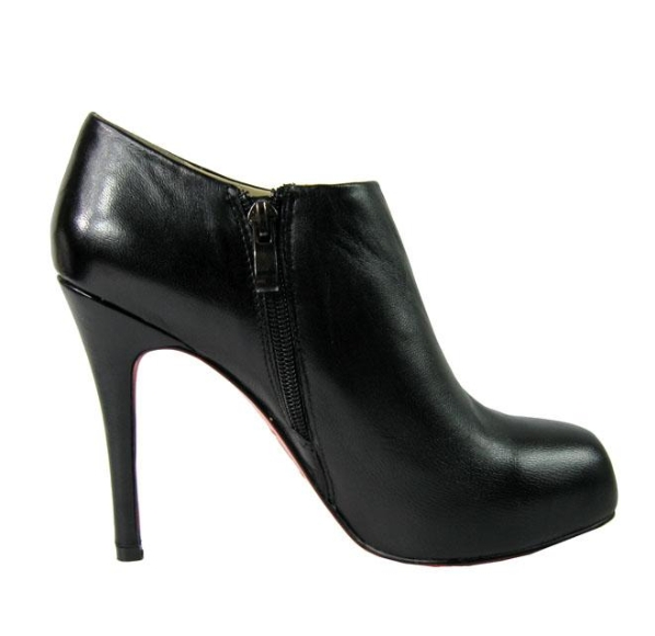 separation shoes e1f75 5cda5 Christian Louboutin Vicky 120mm Leather Ankle Boots Black ...