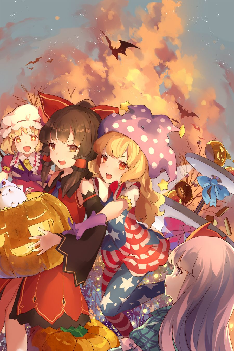 Anime halloween wallpaper handy
