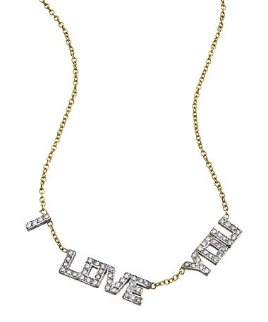 Kacey K Fine Jewelry Gold And Diamond Block 'I Love You