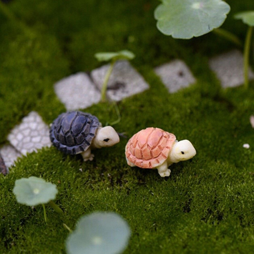 Pcs mini turtle tortoise miniature fairy garden decoration diy doll