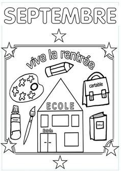 Septembre school coloriage rentr e coloriage rentree des classes th me rentr e scolaire - Dessin rentree ...