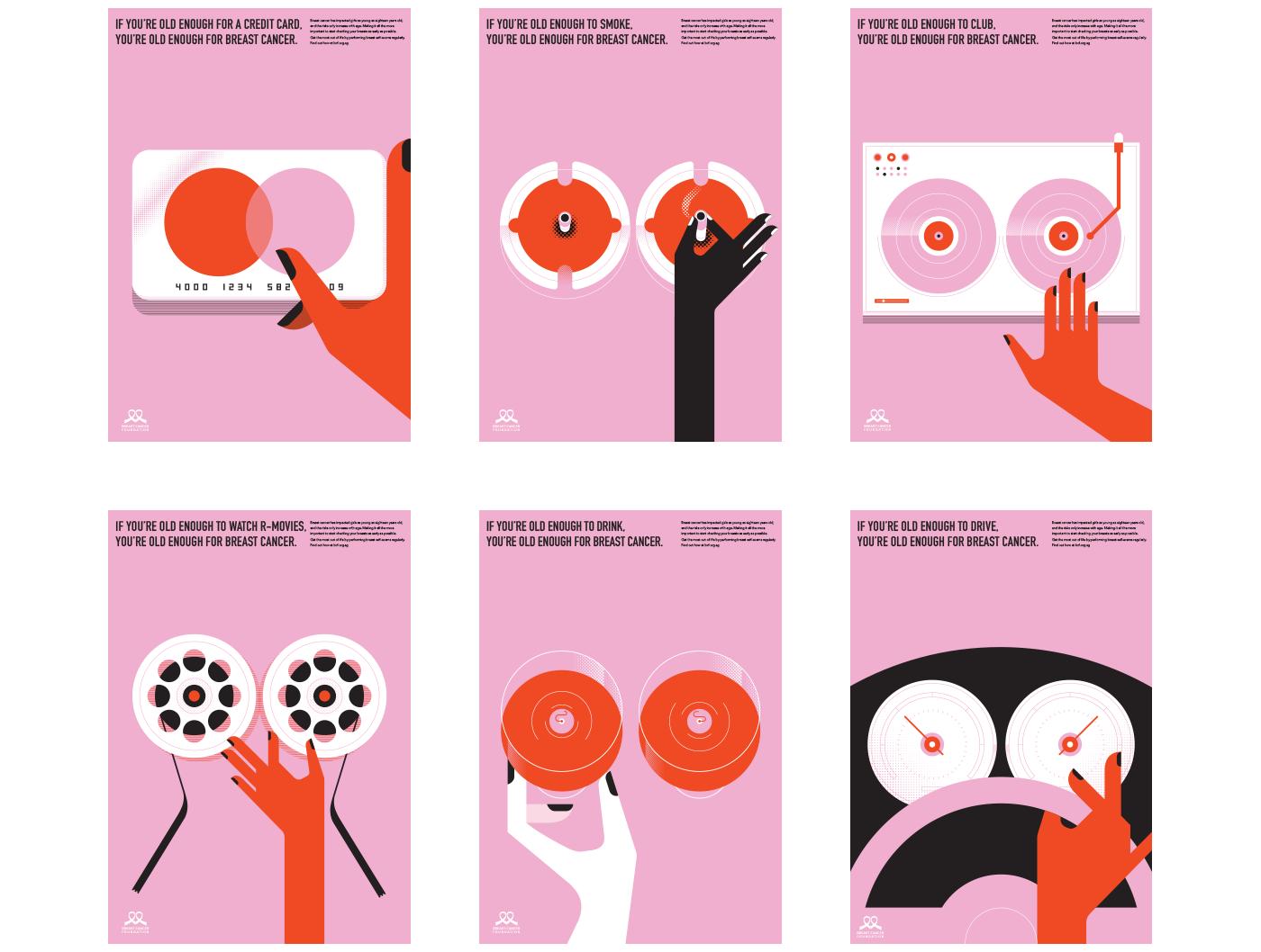 Breastcancer Website7 Graphic Design Posters Design Campaign Graphic Design Poster