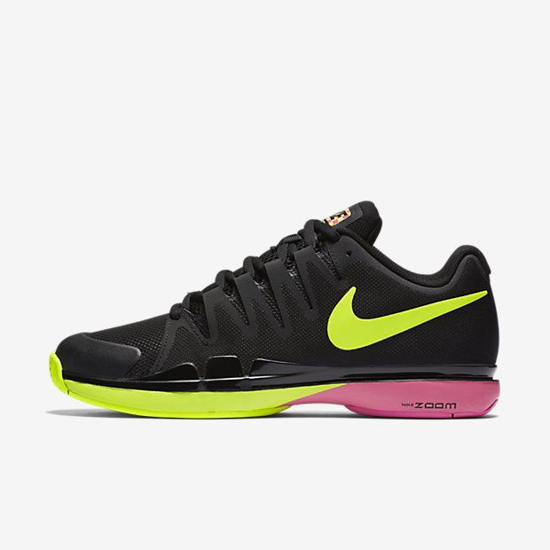 Nike Zoom Vapor 9 5 Tour Mens Tennis Shoes 7 5 Black Volt FEDERER 631458 076