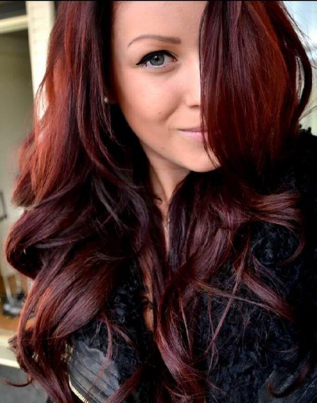 Dark Mahogany Red Hair Color Loreal Lajoshrich