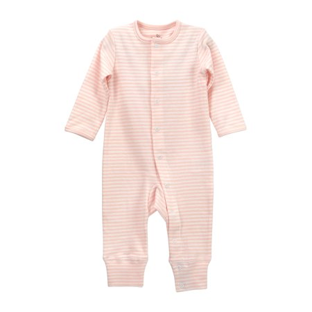 8a21ed17a Striped Button-Front One Piece Unionsuit Outfit (Baby Girls)