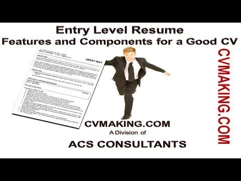 Essential features and components of Entry Level Resume - resume components