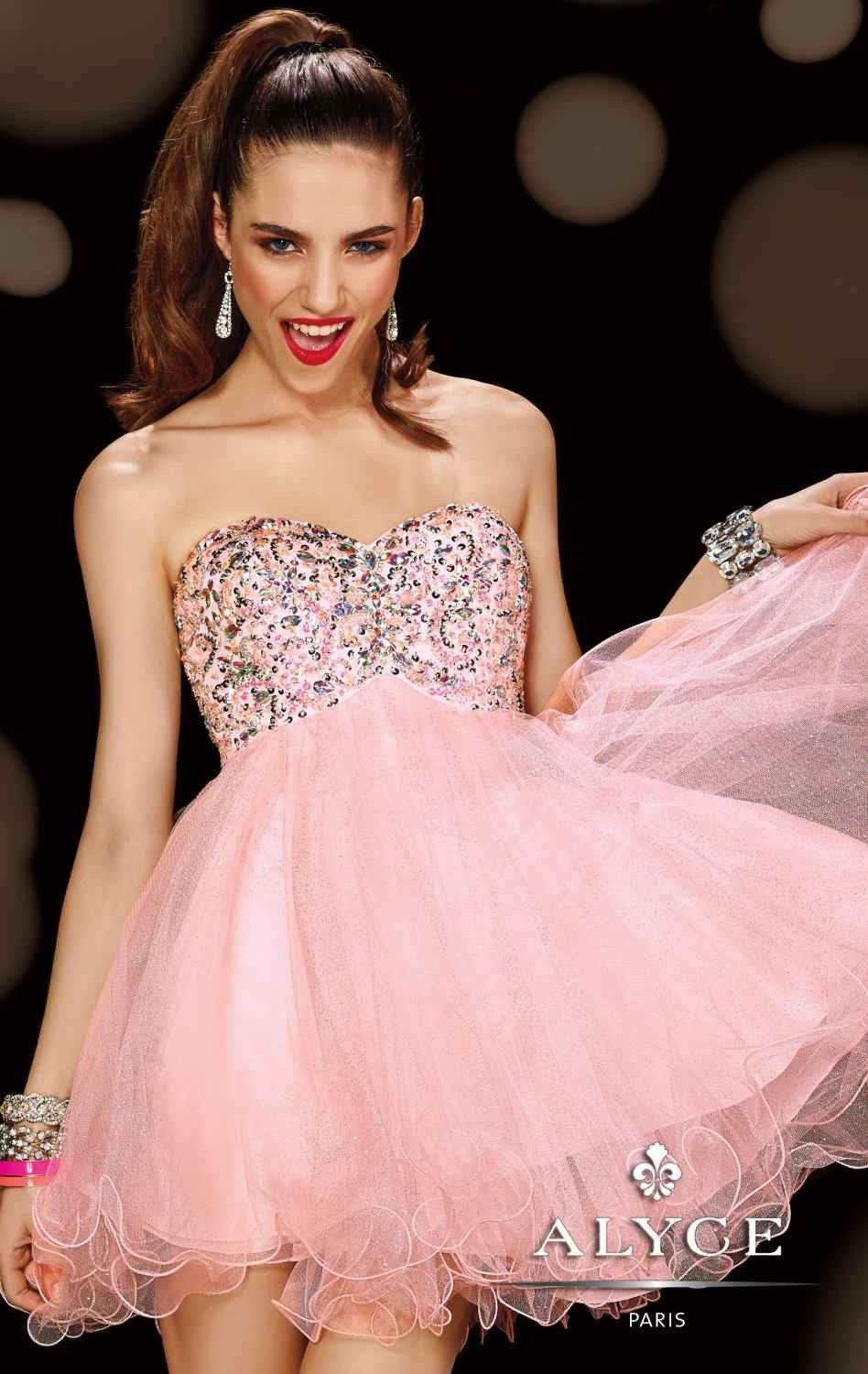Look sensational and feel fabulous in Alyce Sweet 16 3594. This ...