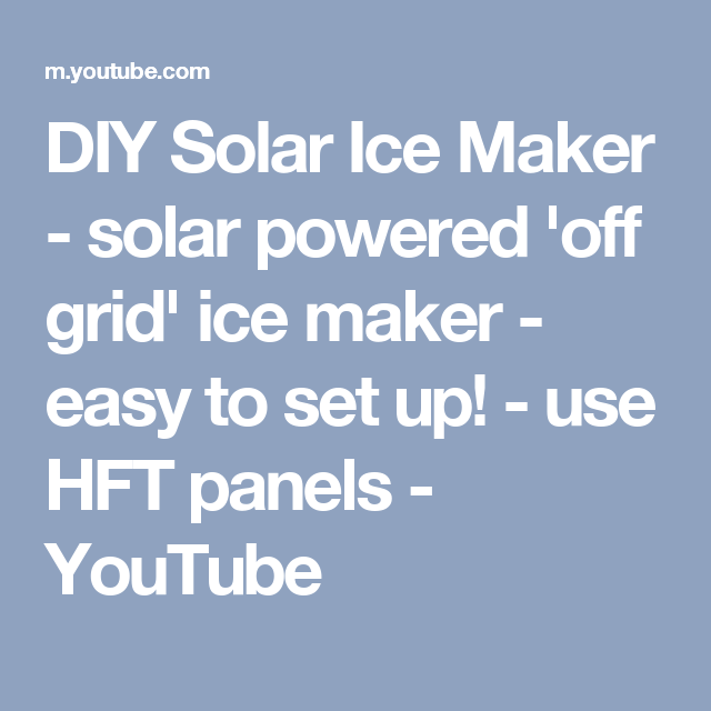 DIY hook up Ice Maker