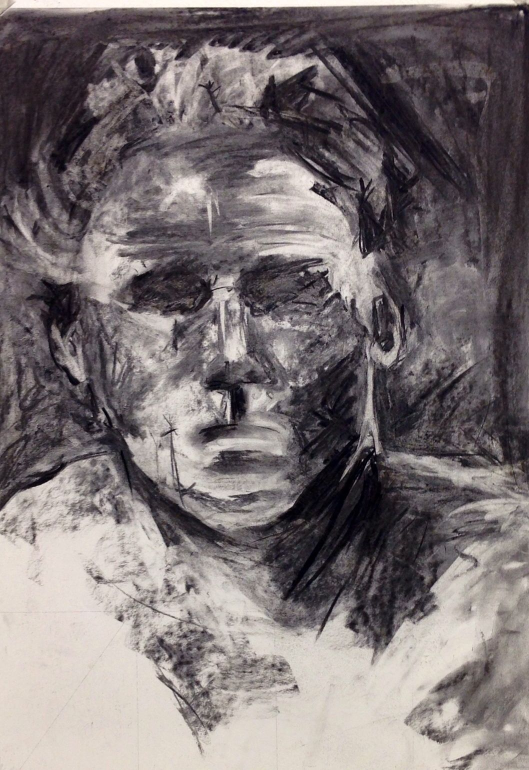 Charcoal tonal drawing