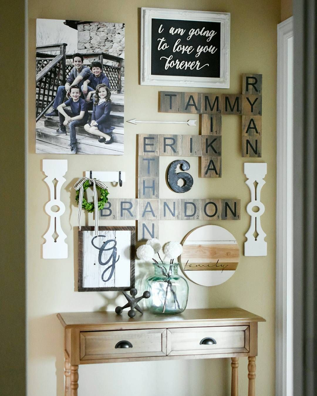 Scrabble Art Gallery Wall Ourburlapbungalow Room Wall Decor Home Decor Accessories Wall Decor Living Room Living room letters crossword